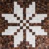 ASKA  Brown / Mocha   Cream / White - Handmade Cowhide   Geometric   Modern   Patchwork   Custom Rug