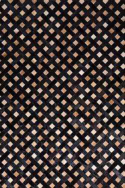 DARK WEAVE  Black | Brown / Mocha - Handmade Cowhide | Geometric | Modern | Patchwork | Custom Rug