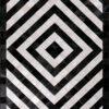 HENLEY  Black | Cream / White - Handmade Cowhide | Geometric | Modern | Patchwork | Custom Rug