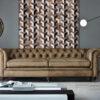 INFINITY  Brown / Mocha   Beige - Handmade Wall Rugs   Cowhide   Geometric   Modern   Patchwork   Custom Rug