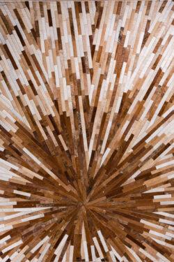 INTERSTELLER (BROWN)  Beige | Brown / Mocha - Handmade Cowhide | Modern | Patchwork | Custom Rug