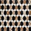 SAPPHIRE  Black   Brown / Mocha   Cream / White   Multicoloured - Handmade Cowhide   Geometric   Modern   Patchwork   Custom Rug