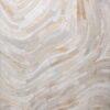 SPIRIT  Cream / White - Handmade Cowhide | Modern | Patchwork | Custom Rug