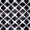 STARCROSS (BLACK)  Black | Cream / White - Handmade Cowhide | Geometric | Modern | Patchwork | Custom Rug